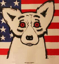 """Blue Dog George Rodrigue      """"God Bless America""""         MAKE  OFFER"""