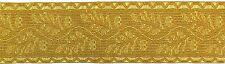50mm OAK LEAF GOLD MYLAR BRAID LACE FOR ARMY, MILITARY, UNIFORM, COSTUME, FANCY