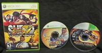 Mortal Kombat + Super Street Fighter IV - XBOX 360 2 GAME Lot Tested + Working