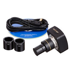 AmScope 5MP USB Camera for Microscopes Windows XP/Vista/7/8/10 and Mac OS + Test