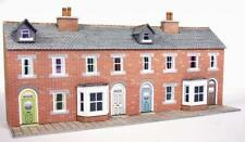 METCALFE PN174 1:148 N SCALE LOW RELIEF RED BRICK TERRACED HOUSE FRONTS CARD KIT