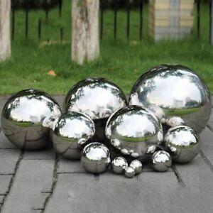 High Gloss Glitter Stainless Steel Ball Mirror Hollow Ball Home Garden Decor