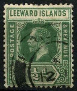 Leeward Islands 1912-22 SG#47a 1/2d Green KGV Used #D31484