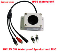 MIC Speaker in 1 Device Interphone for Security Camera Outdoor Waterproof IP66