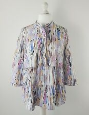 Cos Pastel Colours Pink Purple Tiered Shirt Blouse Size 40 UK 14 Lagenlook