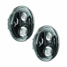 JW SPEAKER 8700 EVOLUTION J SERIES HEADLIGHT KIT JK Pair 2 Black NEW Wrangler