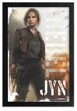 STAR WARS ROGUE ONE JYN WARFARE 13x19 FRAMED GELCOAT POSTER FORCE DARTH VADER!!!