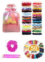 50 Pcs Hair Scrunchies Velvet Elastics Hair Bands Soft Scrunchy Ties Girls Gifts