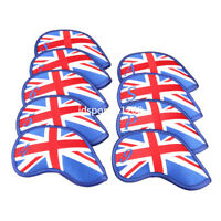 9XUK Flag Golf Club Headcover Head Cover Union Jack Iron Cover for Titleist Ping