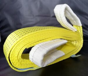 TOW ROPE TOWING STRAP 5M 4X4 RECOVERY WINCH TREE STROPS 5 TON OFF ROAD 100% FB