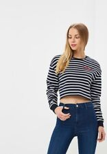 Top shop Forever Striped Crew Neck Sweatshirt Size 8 US