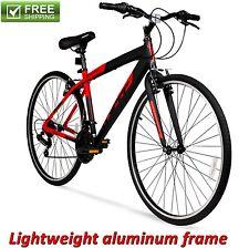 Aluminum Hybrid Bike RED 700C Men's Cruiser Commuter Sport Road Bicycle New!