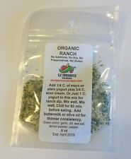 Organic Ranch Dry Mix for dip or dressing. No sulfites, no additives no MSG