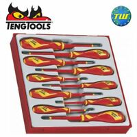 Teng 10pc Insulated VDE Screwdriver Set 1000V TTDV910N - Tool Control System