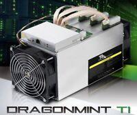 Halong Mining Dragonmint T1, 16 TH/s. Bitcoin BTC ASIC Miner w/PSU.