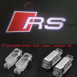 2X LED Car Door Light HD Logo Courtesy Projector Ghost Laser Light For Audi RS