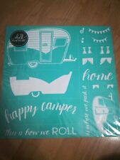 """Chalk Couture:  """"Happy Camper""""  Transfer,  New -  Size D 18x18"""