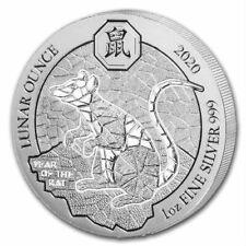 YEAR OF THE RAT RWANDA LUNAR OUNCE 2020 1 oz Pure Silver Coin SEALED