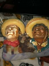 Bosson/Legend Chalkware. 2 For 1. Mexican Men. Sold As Is