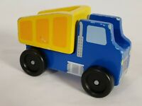 Melissa & Doug Wood Construction Dump Truck Pre School Toy Vehicle