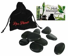 9 Massage Rock Stones in Pouch Heat Therapy Relax Mood Body Hot Cold Treatment