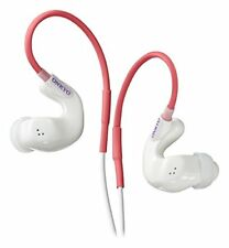 ONKYO earphone IE-S100 W White Canal type ear hanging type sport waterp... JAPAN