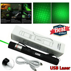 990Miles Upgraded Green/Red Laser Pointer Pen Light Star Beam Rechargeable Lazer