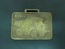 Euclid Dump Truck & Scraper Pocket Watch Fob Earth Heavy Equipment Construction