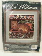 Elsa Williams Needlepoint Kit Contented Cat #06383 Rare Brand New in Pkg
