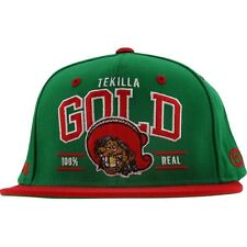 Gold Tekilla Starter Snapback Cap (green / red)