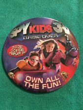 Spy Kids 3-D Game Over Walt Disney Round Button Pin 3 Inch Carmen Juni Cortez