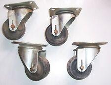 4 ältere Schwerlastrollen Lenkräder Transporträder Industrieräder loft fabrik !