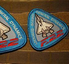 "Lockheed Boeing F-22 Raptor 5th-Generation Fighter burdock 3"" Factory Insignia"