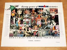 IRONMAN 1998 HAWAII POSTER ORIGINAL - TRIATHLON LIMITED / 1 of 2000 VINTAGE MINT