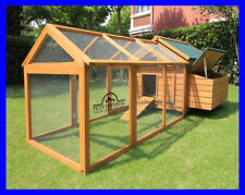 SAVOY SINGLE WITH RUN LARGE DELUXE CHICKEN COOP RABBIT HUTCH NEST HEN HOUSE