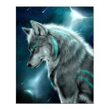 Wolf Painting Embroidery DIY 5D Diamond Cross Stitch Kits Home Crafts Decor