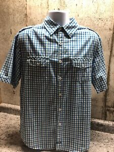 Dickies Short Sleeve Plaid Men's Causal Shirt Size Large