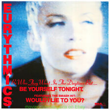 EURYTHMICS BE YOURSELF TONIGHT Original 22x22 Inch 1985 V.Go ALBUM PROMO  POSTER