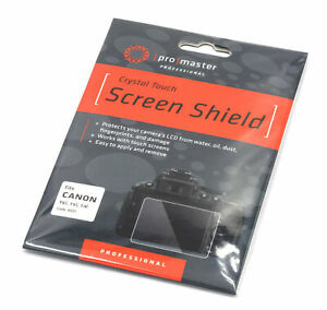 Promaster Crystal Touch Screen Shield #4331 for Canon T6i T5i and T4i bodies