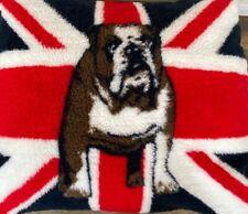 British Bull Dog, Pet Bed, Medium Size Fleece  Dog Bed,