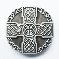 Celtic Totem Cross Western Metal Belt Buckle