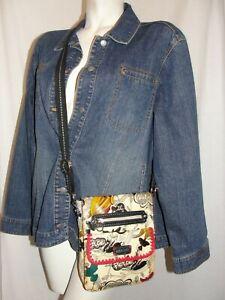 "SAKROOTS Purse ""Peace Nature Adventure"" Polyvinyl Crossbody Shoulder Bag Handbag"