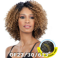Freetress Equal Lace Deep Diagonal Part Curly Short HAIR Wig FLOWER BLOSSOM
