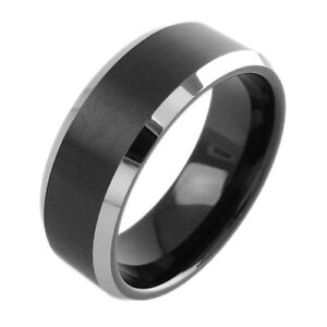 8mm Men's Tungsten Ring! Best Selling Styles Starting at $4.99