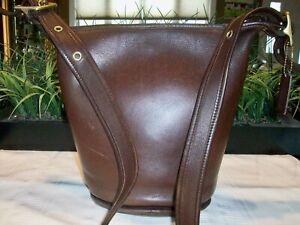 Coach Helens Legacy Leather Bucket Duffle Zipper Shoulder Bag 9953 Vintage 1998