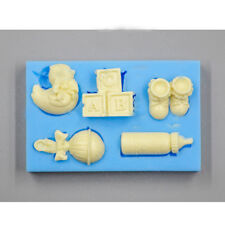 Silicone Baby Bottle Blocks Shower Mould Cake Shoes Icing Decorating Baking Mold