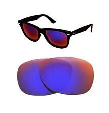 NUOVO POLARIZZATO PERSONALIZZATO chiaro + lente rossa per Ray-Ban Wayfarer