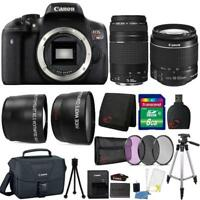 Canon EOS Rebel T6 Camera + 18-55mm Lens + 75-300mm Lens + Case + Accessories