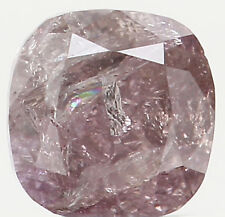 Natural Loose Diamond Cushion I2 Clarity Black Pink Color 3.20MM 0.18 Ct KR317