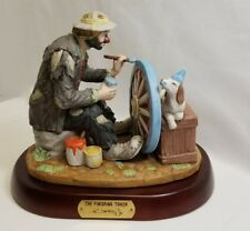 Flambro Emmett Kelly Jr The Finishing Touch Signature Collection Figurine Signed